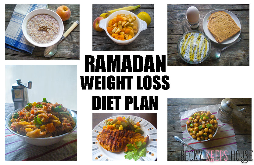 Ramadan Weight Loss Diet Plan | Becky Keeps House - This is the Ramadan Weight Loss Diet Plan that I used to help me lose an average of two pounds per week in Ramadan. Healthy eating helped me lose 17 pounds!